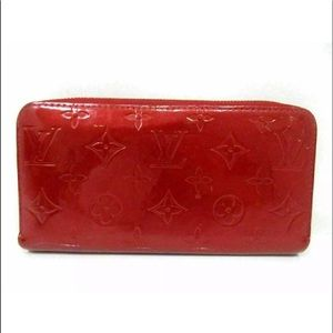 Louis Vuitton Red Vernis Wallet